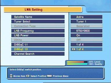 Einstellungen Astra 19.2